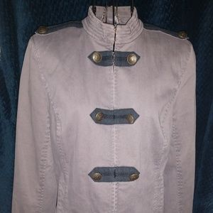 Juicy Couture Driftwood Gray Band Jacket size M